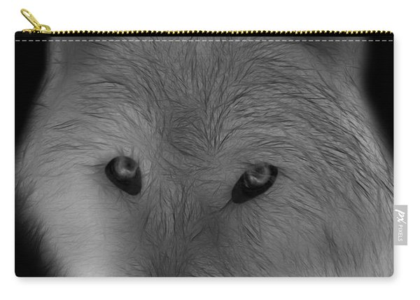 Wolf - Black And White Carry-all Pouch