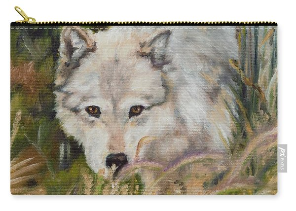 Wolf Among Foxtails Carry-all Pouch