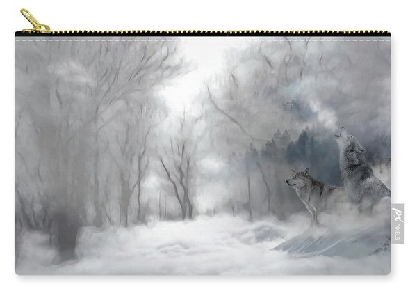 Wolves In The Mist Carry-all Pouch