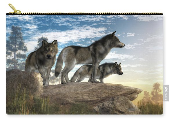Wolves On The Hunt Carry-all Pouch