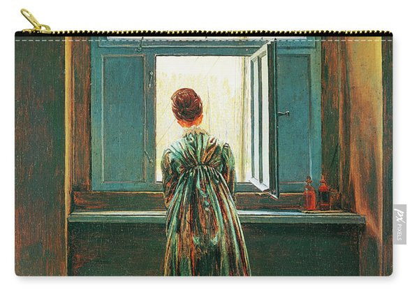 Woman At Window Carry-all Pouch