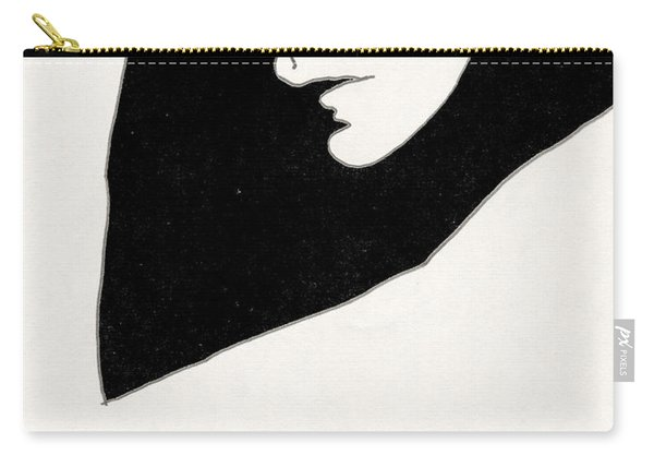 Woman In Shadows Carry-all Pouch