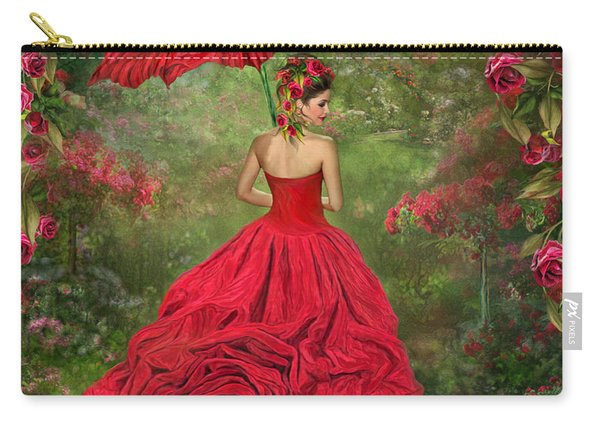 Woman In The Rose Gown Carry-all Pouch