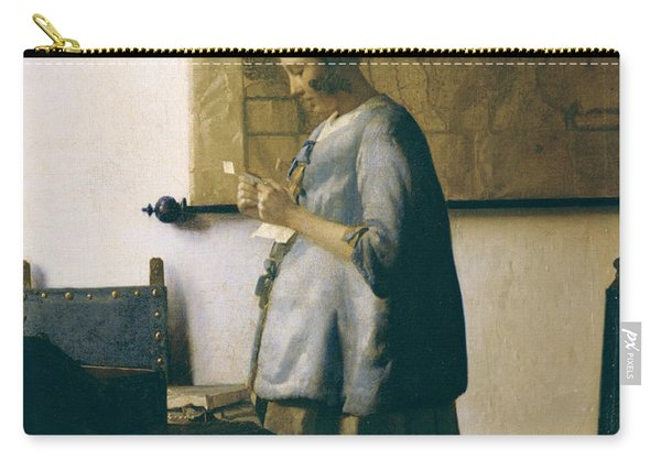 Woman Reading A Letter Carry-all Pouch
