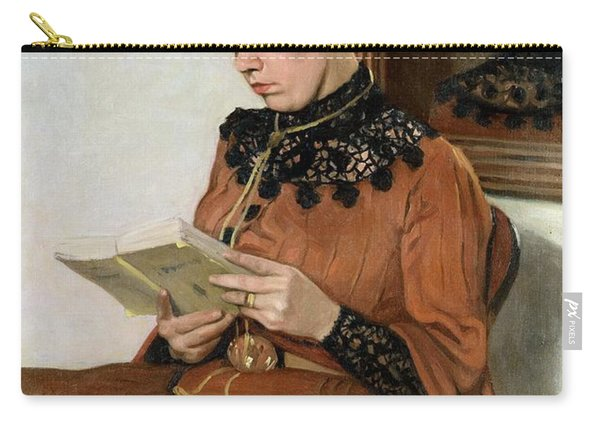 Woman Reading Carry-all Pouch