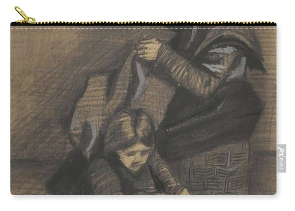 Woman Sewing, With A Girl The Hague, March 1883 Vincent Van Gogh 1853 - 1890 Carry-all Pouch