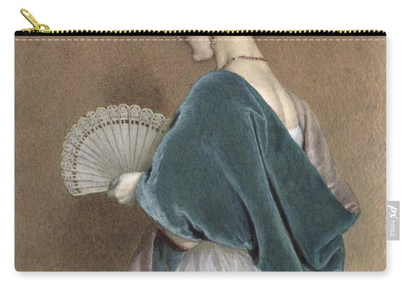 Woman With A Fan Carry-all Pouch