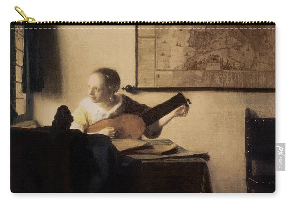 Woman With A Lute Carry-all Pouch