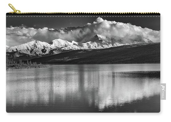 Wonder Lake In Black And White Carry-all Pouch