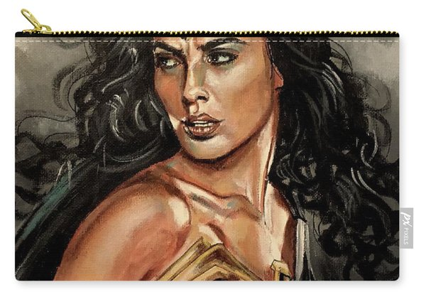 Carry-all Pouch featuring the painting Wonder Woman by Joel Tesch