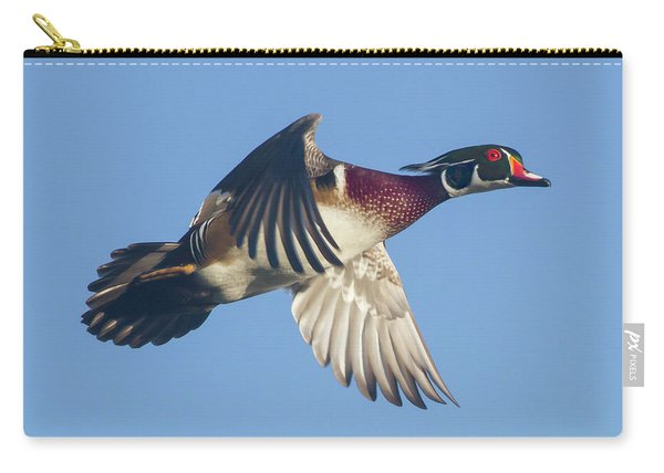 Wood Duck Flying Fast Carry-all Pouch