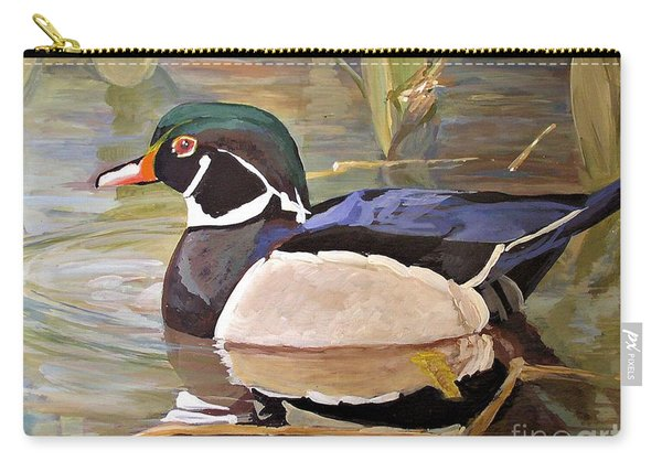 Wood Duck On Pond Carry-all Pouch