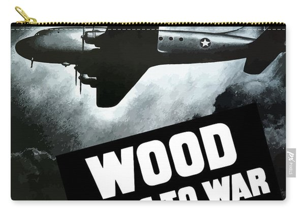 Wood Flies To War Carry-all Pouch