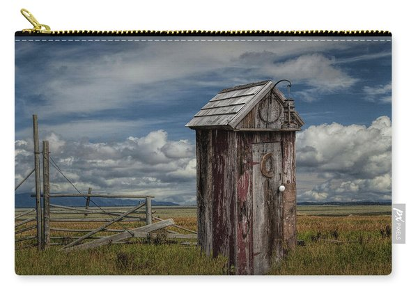 Wood Outhouse Out West Carry-all Pouch