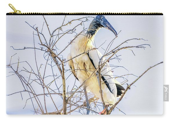 Wood Stork Sitting In A Tree Carry-all Pouch