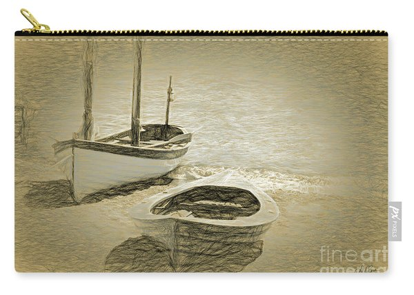 Wooden Boats On The Shore Carry-all Pouch