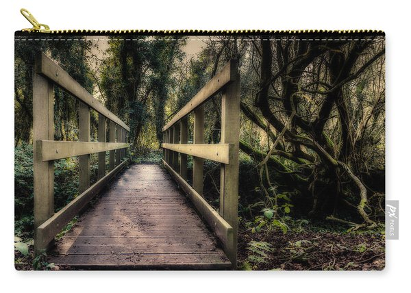 Carry-all Pouch featuring the photograph Wooden Bridge by Nick Bywater
