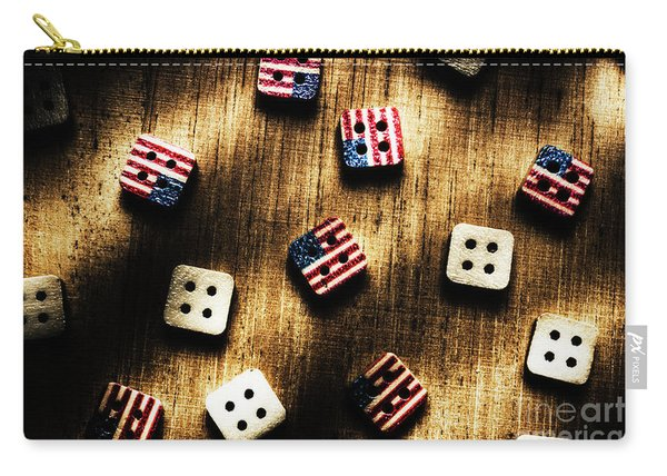 Wooden Button America Carry-all Pouch