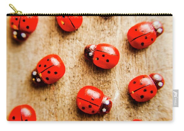 Wooden Ladybugs Carry-all Pouch