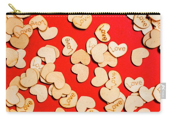 Wooden Notes Of Red Sentiment Carry-all Pouch