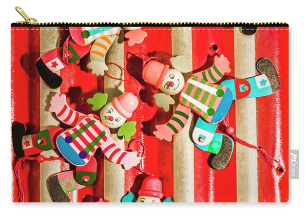 Wooden Puppet Show Carry-all Pouch