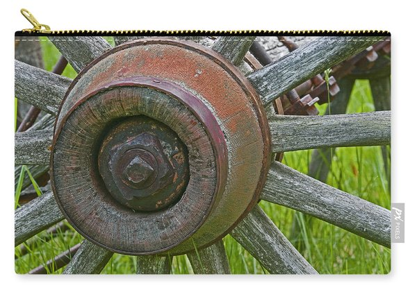 Wooden Spokes Carry-all Pouch