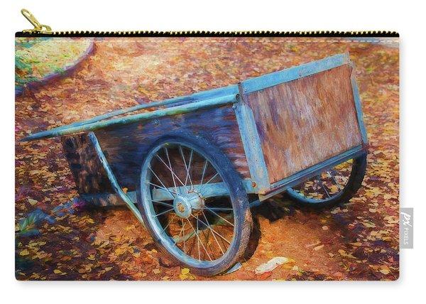 Wooden Wheelbarrow Carry-all Pouch