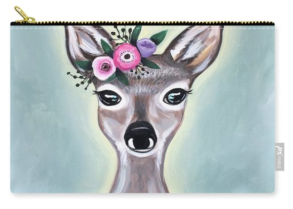 Woodland Floral Deer Carry-all Pouch