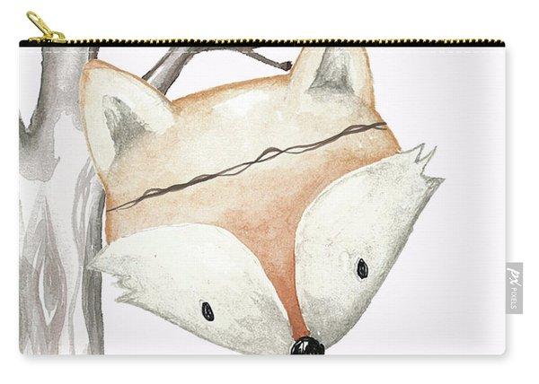 Woodland Fox Boho Baby Nursery Decor Carry-all Pouch