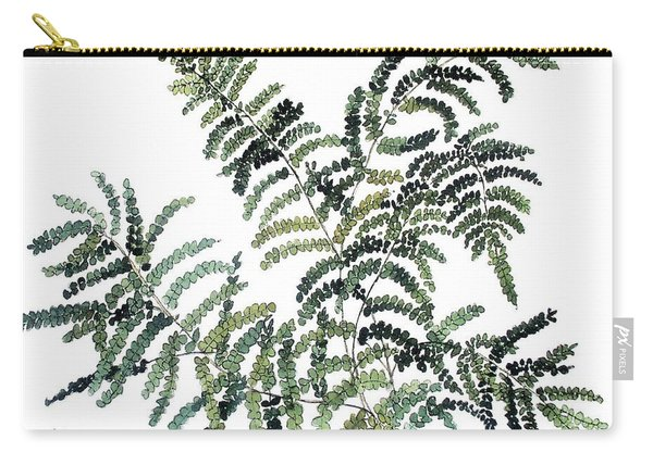 Woodland Maiden Fern Carry-all Pouch