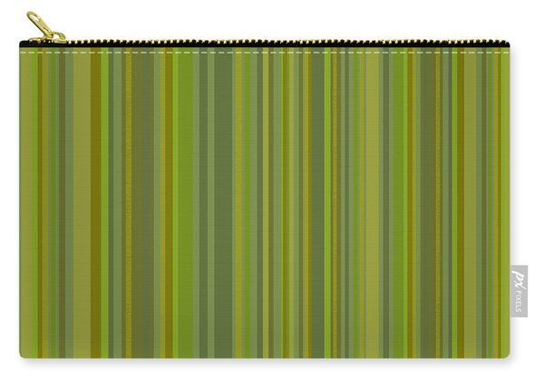 Woodland Moss - Stripes - Green Carry-all Pouch