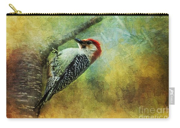 Woodpecker On Cherry Tree Carry-all Pouch
