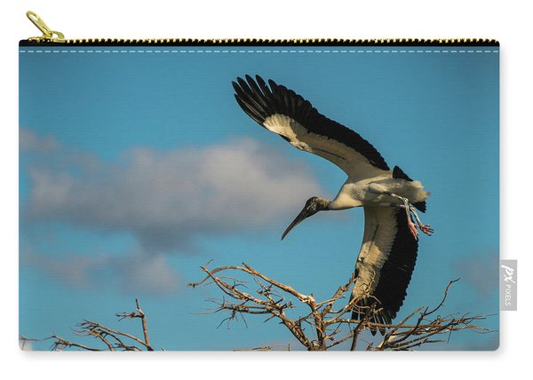 Woodstork In Flight Delray Beach Florida Carry-all Pouch