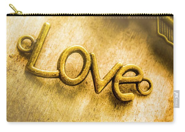 Words And Letters Of Love Carry-all Pouch