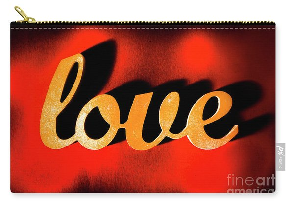 Words Of Love And Retro Romance Carry-all Pouch