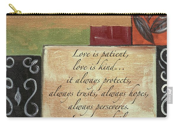 Words To Live By Love Carry-all Pouch