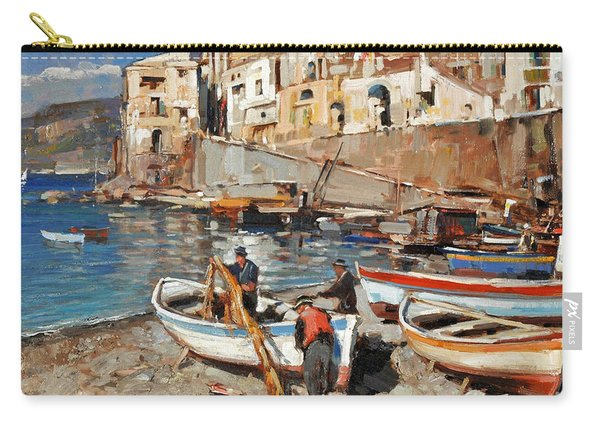 Work Never Ends For Amalfi Fishermen Carry-all Pouch