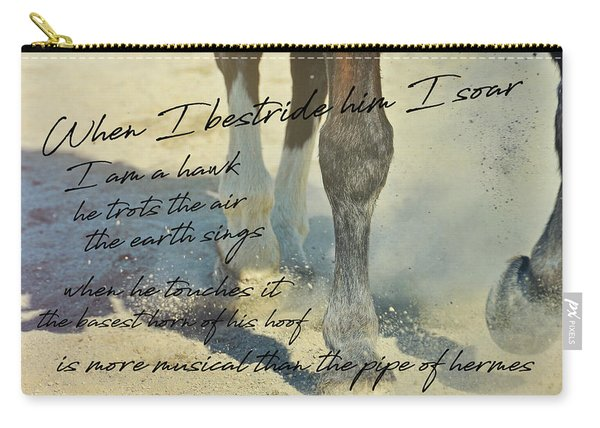 Working Tempo Quote Carry-all Pouch