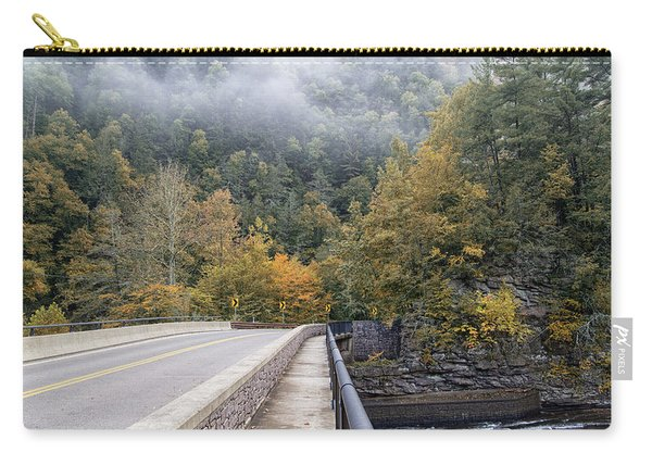 Worlds Ends Exit Road In The Fall Carry-all Pouch
