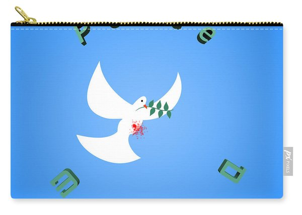 Wounded Dove Symbol Of Peace  Carry-all Pouch