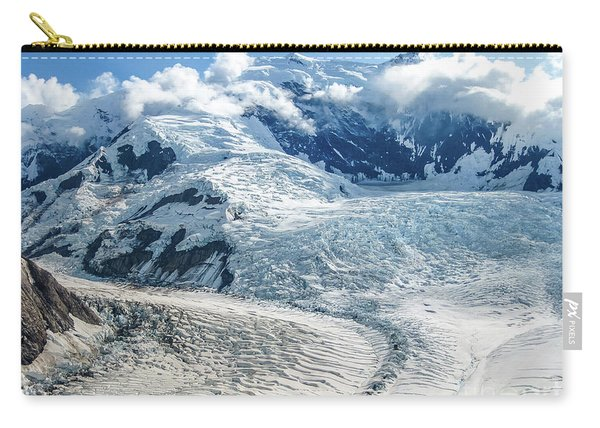 Carry-all Pouch featuring the photograph Wrangell Alaska Glacier by Benny Marty