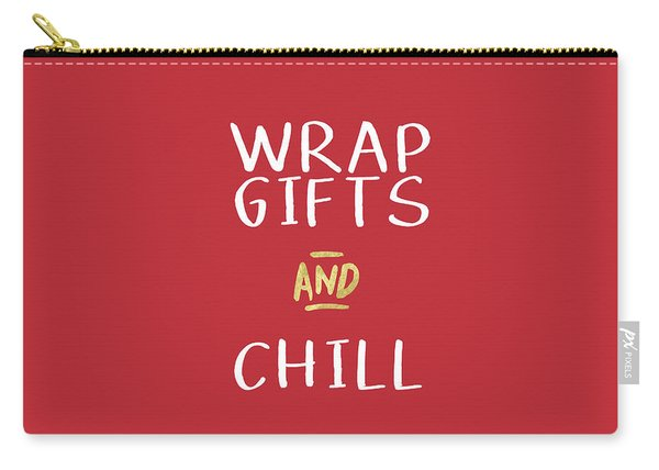 Wrap Gifts And Chill- Art By Linda Woods Carry-all Pouch