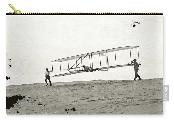 Wright Bros First Flight Glider From Glass Negative 1902 Carry-all Pouch