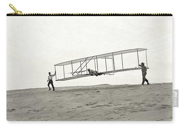 Wright Brothers Glider - Glass Negative - 1902 Carry-all Pouch