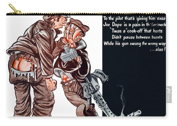 Wwii Joe Dope Cartoon Carry-all Pouch