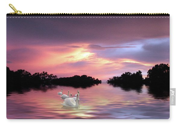 Sunset Swans Carry-all Pouch