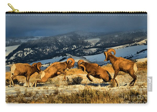Wyoming Bighorn Brawl Carry-all Pouch