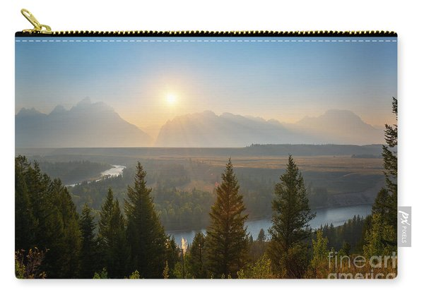 Wyoming Sunset At Snake River Carry-all Pouch