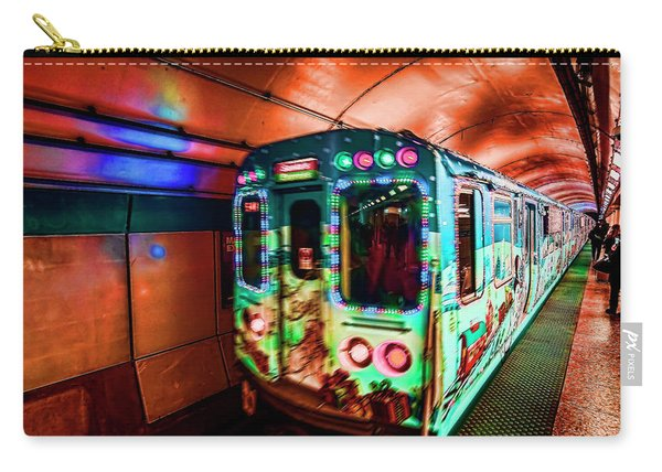 Xmas Subway Train Carry-all Pouch