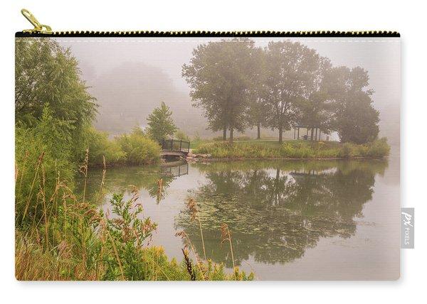 Misty Pond Bridge Reflection #5 Carry-all Pouch